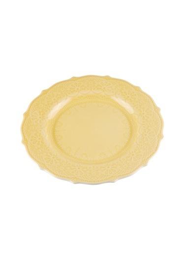 Kanca Ev Dantel Tatlı Tabağı, 21Cm. Sarı Sarı